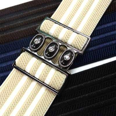 画像1: 日本製5cmゴムベルト シルバーライン L寸