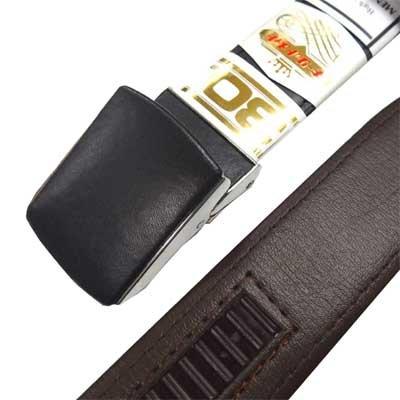 画像1: 日本製 紳士 ビジネスベルト 30mm キーリットメイト AB 無地 オートロック