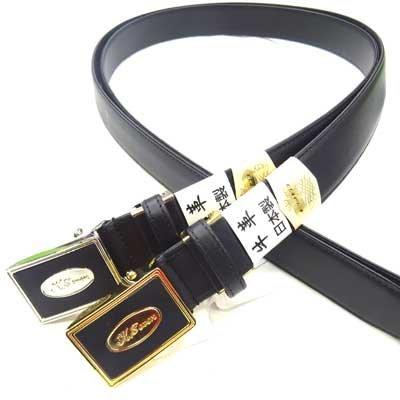 画像2: 日本製 紳士 ビジネスベルト 35mm キーリットセブン 牛吟本革 スムース オートロック