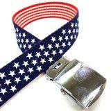 日本製 30mm GI ガチャベルト リバーシブル アメリカ 国旗