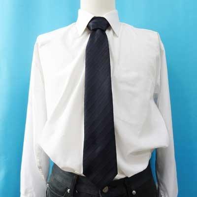 画像3: 日本製黒ネクタイ 正絹(シルク) 柄入 撥水加工 2055-101