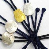 日本製 ループタイ ボロータイ ポーラータイ 正絹紐 片切彫打