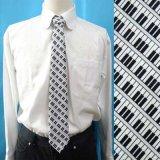 日本製ネクタイ オリジナルプリント ピアノ鍵盤柄 メンズ