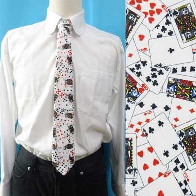 画像1: 日本製 ネクタイ ユニセックス ポリエステル プリント トランプ