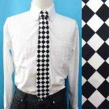 日本製 ネクタイ ユニセックス 綿 チェッカー