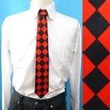 日本製 ネクタイ ユニセックス 綿 ブロックチェック(大)