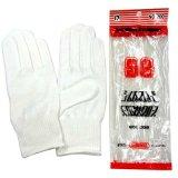 紳士用白手袋 綿 シームレスカーグローブ Mサイズ No.200