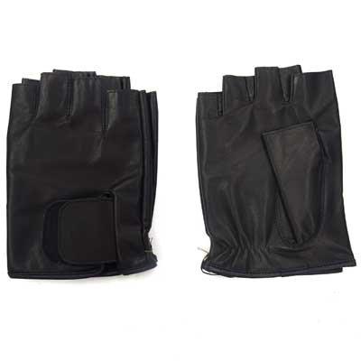 画像2: 日本製指切り手袋 本革 穴なし