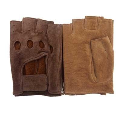 画像2: ドライブ手袋 指切り フィンガーレス 本革 豚革 テープ式 インナーあり