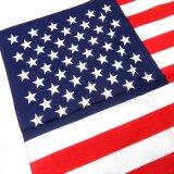 日本製 バンダナ コットン 綿 国旗 アメリカ