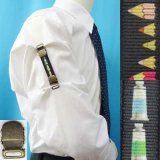 日本製 裄吊り シャツガーター 袖丈調整 ゴム AG ハンドプリント 文房具