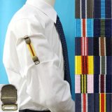 日本製 裄吊り シャツガーター 袖丈調整 ゴム AG IVY調 ストライプ