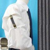 日本製 裄吊り シャツガーター 袖丈調整 ゴム AG アローライン