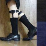 日本製ソックスガーター レッグガーター 靴下留め 本革 マンボ 4125-001