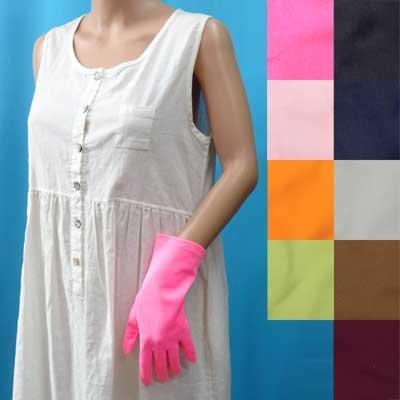 画像1: 日本製ナイロン手袋 手染め ショート