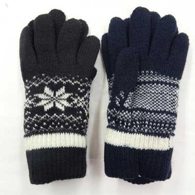 画像2: 日本製婦人ニット手袋 アンゴラ・ウール 二重手袋 無地 No.2554