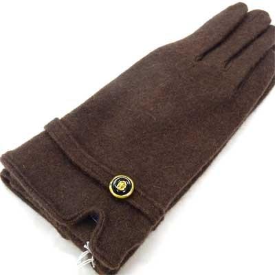 画像1: 日本製婦人ジャージ手袋 ウール ボタン