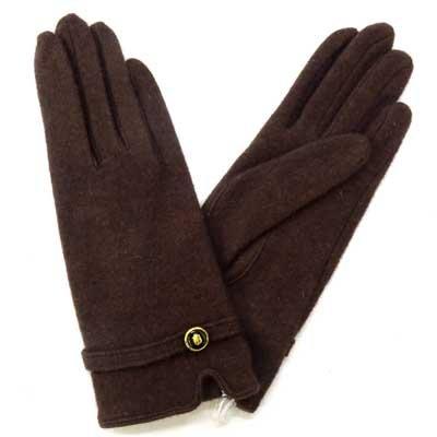 画像2: 日本製婦人ジャージ手袋 ウール ボタン