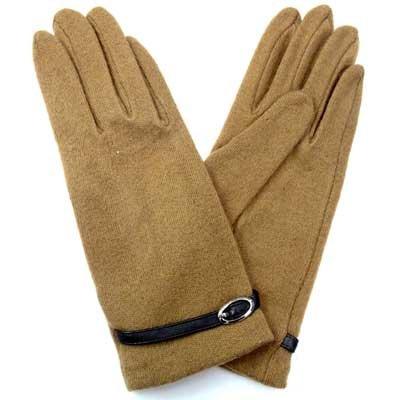 画像2: 婦人ジャージ手袋 アクリル ソフトタッチ 合皮ベルト No.1051