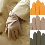 日本製婦人ジャージ手袋 天然素材使用 裾ボタン 滑り止めつき