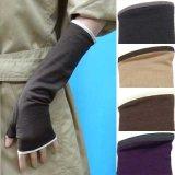 日本製婦人ジャージ手袋 指無し ウール100% 中長