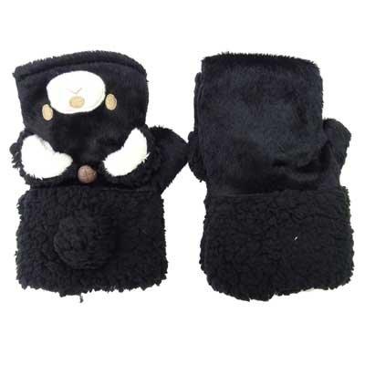 画像2: 婦人ニット手袋 アニマルキャップ 猫 ライナーボア