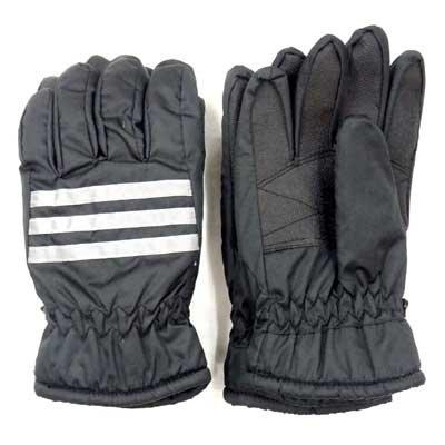 画像2: 婦人ナイロン手袋 リフレクション3ライン 甲しぼり リブ付 No.1628